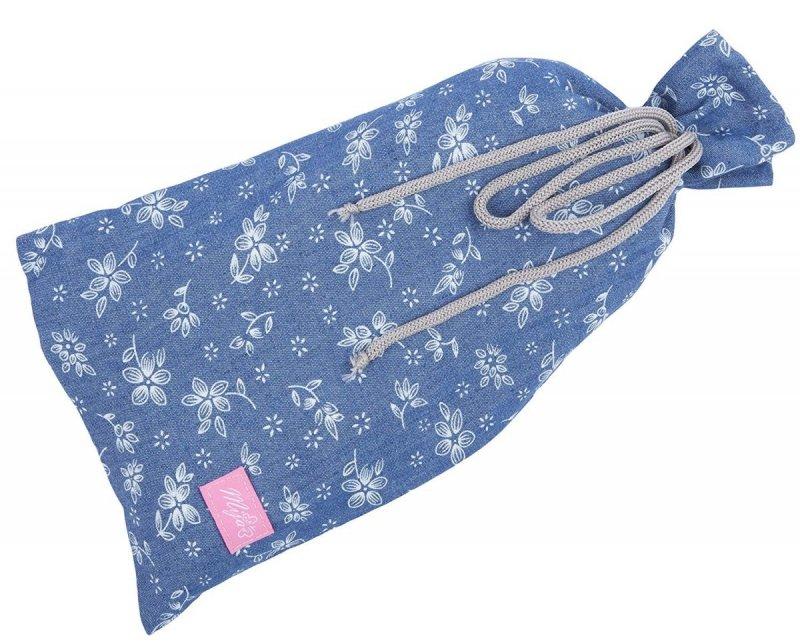 MijaCulture - chusta, peleryna do karmienia piersią + etui 4010/M34 niebieski 3