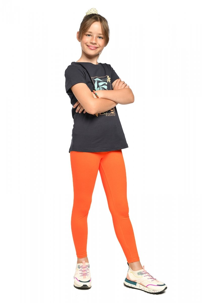 Legginsy dziewczęce getry dla dzieci ZOE pomarańcz