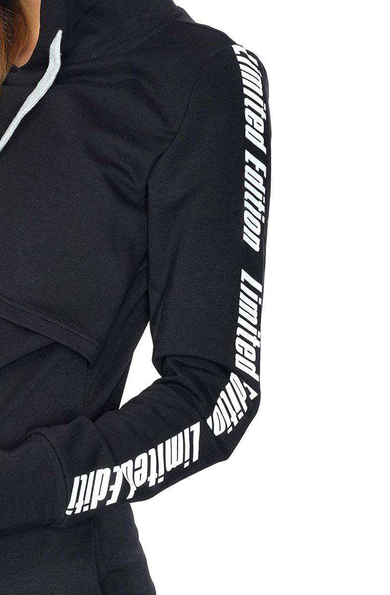 MijaCulture - 3 w 1 bluza ciążowa i do karmienia M68 4110 czarny Limited Edition