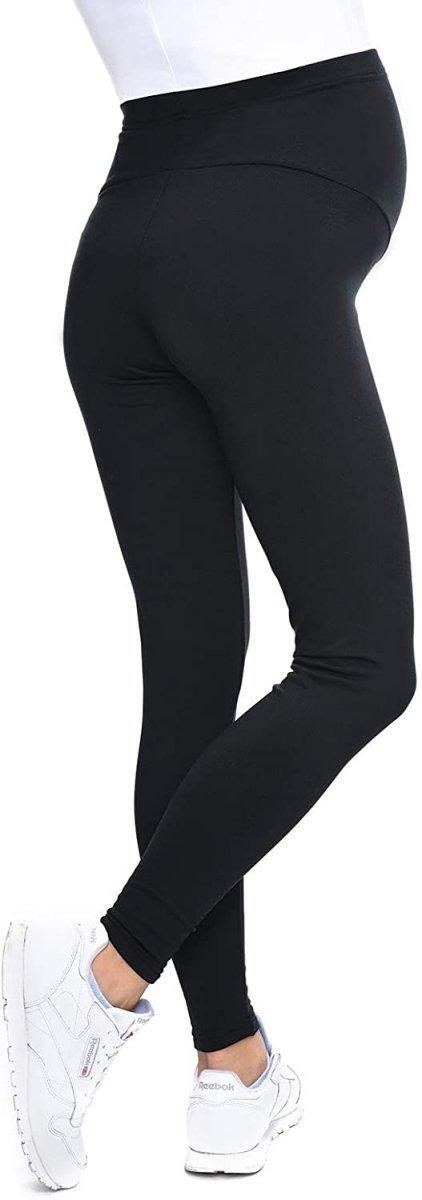 MijaCulture - Komfortowe legginsy ciążowe zimowe 1034 czarne4