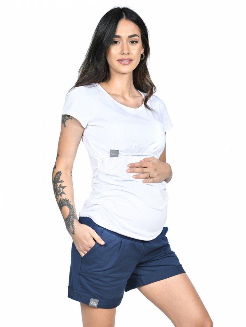 MijaCulture - spodenki ciążowe Lola M004 granat