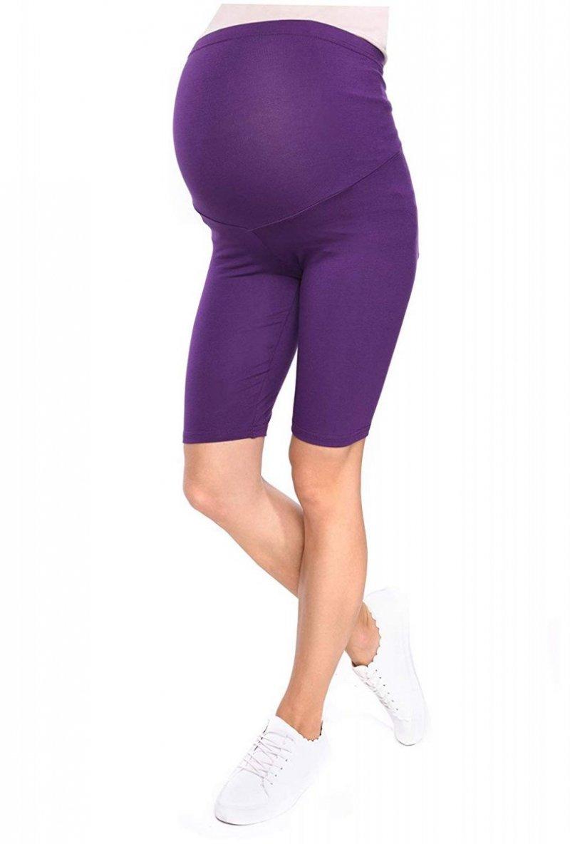 Wygodne legginsy ciążowe Mama 1052 fioletowy