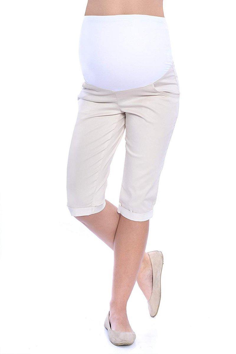 MijaCulture - spodnie rybaczki ciążowe 4015/M35  beż