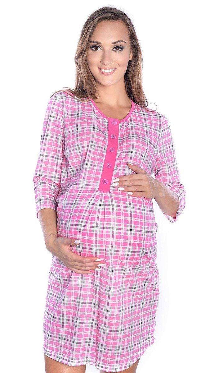 MijaCulture - 2 w 1 koszula nocna i do karmienia 4016/M31 różowy