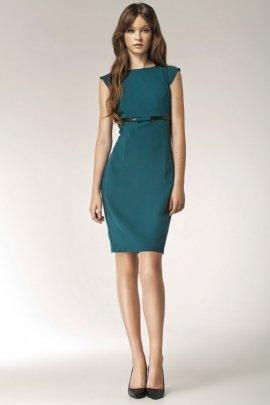Sukienka z kokardką - zielony - S36
