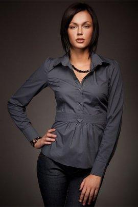 Wyjątkowa koszula w modnym fasonie - szary - K23