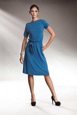 Subtelna sukienka z zamkiem - niebieski - S13