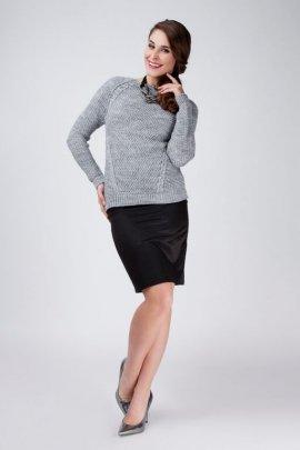Sweter Anastazja SWE 014 szary