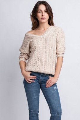 Sweter Kendall SWE 079 Beżowy