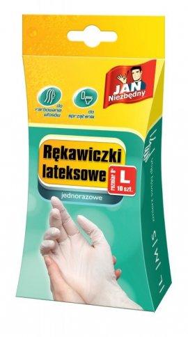 Sarantis Jan Niezbędny Rękawiczki lateksowe L jednorazowe 10sztuk