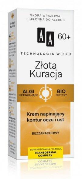 AA Technologia Wieku 60+ Złota Kuracja Krem napinający kontur oczu i ust 15ml