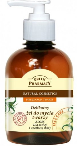 Green Pharmacy Żel do mycia twarzy Aloes