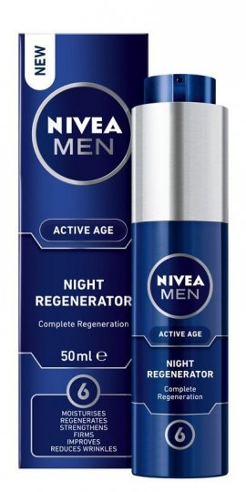 NIVEA FOR MEN Regenerujący krem na noc Active Age  50ml