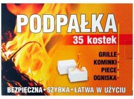 Podpałka do rozpalania grilla i kominka kostki (35szt)