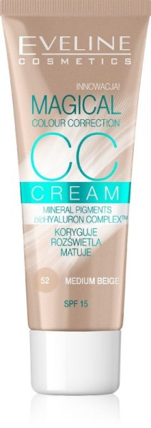 Eveline Fluid Magical CC Cream nr 52 Średni Beż  30ml