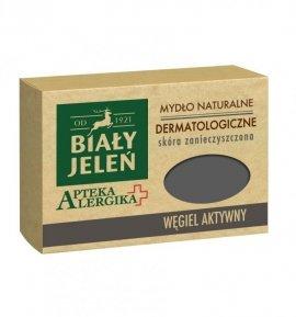 Biały Jeleń Apteka Alergika Mydło naturalne Węgiel Aktywny- skóra zanieczyszczona  125g