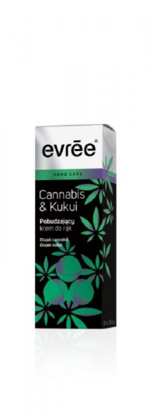 Evree Cannabis & Kukui Pobudzający krem do rąk  30ml