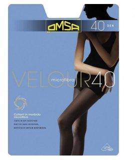 Rajstopy Omsa Velour 40 den 5-XL