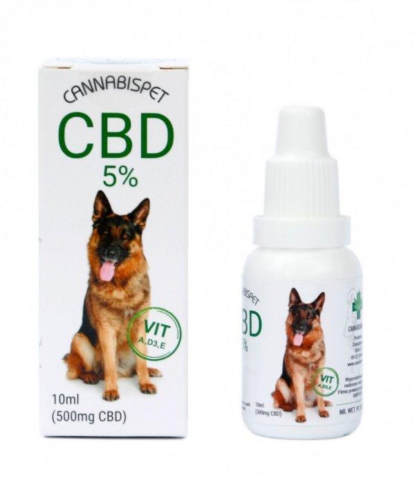 Olejek CBD 5% Dla Zwierząt 10 ml