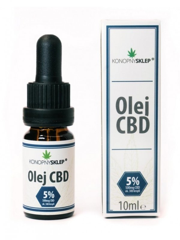 Olej konopny 5% CBD 10ML 500mg