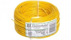 Przewód instalacyjny H05V-K (LgY) 0,75 żółty /100m/