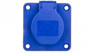 Gniazdo tablicowe 10/16A 2P+Z 230V /70x70/ niebieskie IP54 104-7B