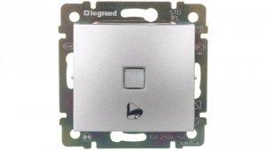 VALENA Przycisk jednobiegunowy z podświetleniem symbol dzwonka aluminium 770115