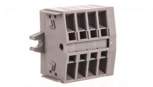 Listwa zaciskowa 4-przewodowa 2,5mm2 4-torowa szara z mocowaniem śrubowym 264-104 /100szt./