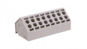 Listwa nasadzana do płytek drukowanych 8-biegunowa szara raster 5mm 806-108 /100szt./
