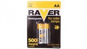 Akumulator Ni-MH R6 / AA 600mAh RAVER SOLAR /blister 2szt/ B7426