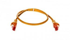 Kabel krosowy (Patch Cord) U/UTP kat.6 żółty 0,5m DK-1612-005/Y