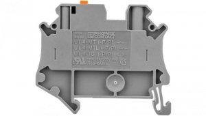 Złączka przelotowa 2-przewodowa z odłącznikiem nożowym 4mm2 szara Ex UT 4-MT-P/P-EX 3046173 /50szt./