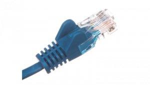 Kabel krosowy patchcord U/UTP kat.5e CCA niebieski 1m 68340