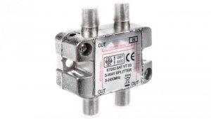 Rozdzielacz sygnału SAT splitter 1x F / 3x F 5-2500MHz 67002