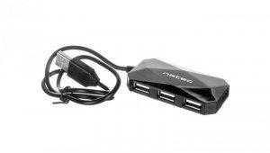USB HUB NATEC 4-PORT LOCUST USB 2.0 BLACK NHU-0647
