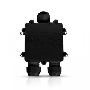 Puszka Złączka Mufa Hermetyczna Czarna Trójnik 5Pin 0.5-2,5mm2 Średnica kabla 8-12mm IP68 V-TAC VT-870