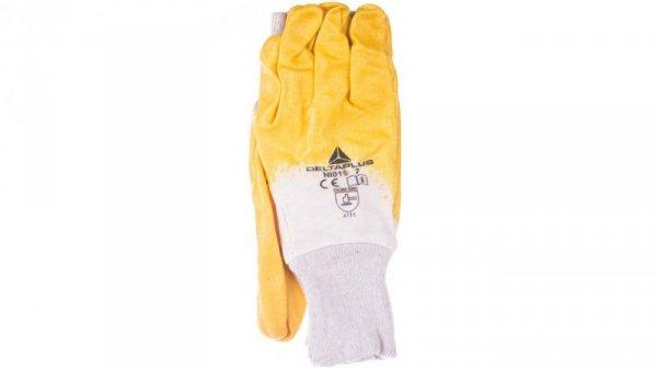 Rękawice z lekkiego Nitrylu na wkładzie z dżerseju, góra wentylowana biało-żółte rozmiar 10 NI01510
