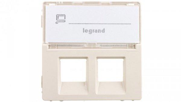 VALENA LIFE Plakietka gniazda komputerowego podwójnego z etykietą kremowy 755481