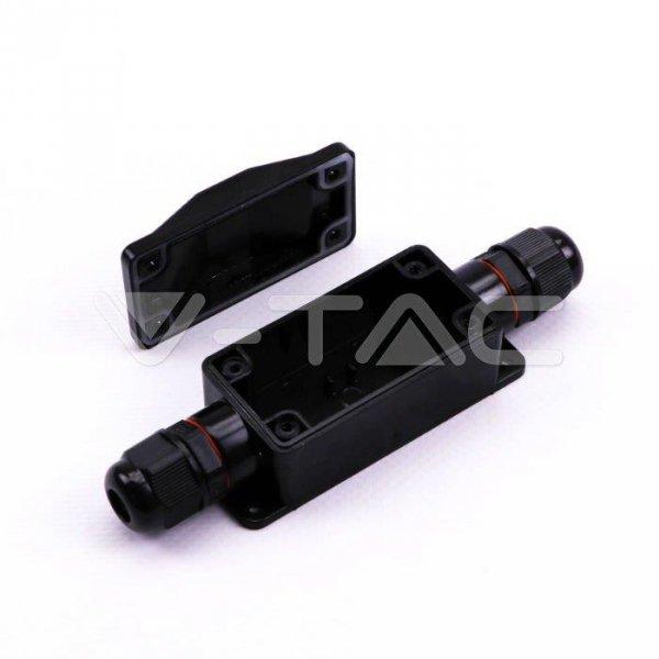 Puszka Złączka Mufa Instalacyjna Hermetyczna Czarna IP65 82.5x34x32.5mm V-TAC