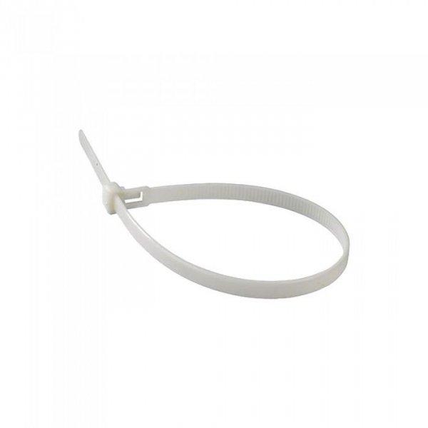Opaska Zaciskowa V-TAC 3.5x150mm Biała 18kg Nylon66 (Opak. 100szt)