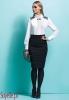 MOLLY czarno-biała sukienka z koronkowymi wstawkami, imitacja bluzki ze spódnicą