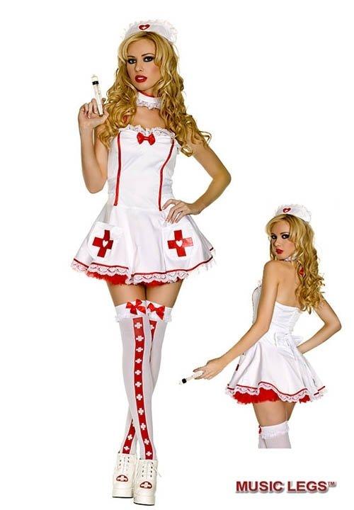NURSE OF HEARTS imprezowy kostium pielęgniarki - 4 części