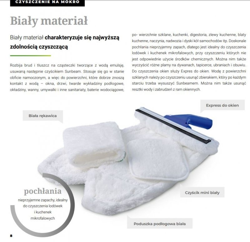 Biała rękawica M do czyszczenia bez chemii