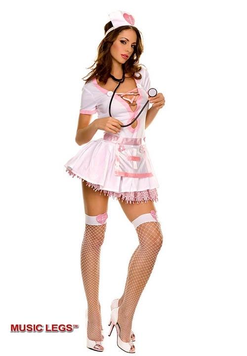 PINK SEXY kostium pielęgniarki - 4 części
