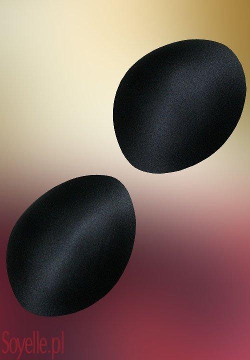 Wkładki do biustonosza, OKRĄGŁE duże, w kolorze czarnym