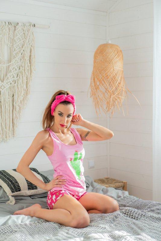 Krissan Pink opaska kosmetyczna do włosów SP012 rozmiar - ONE SIZE