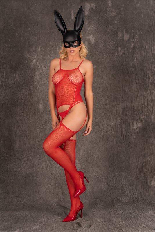 Amrin Red czerwone bodystocking rozmiar - S/L