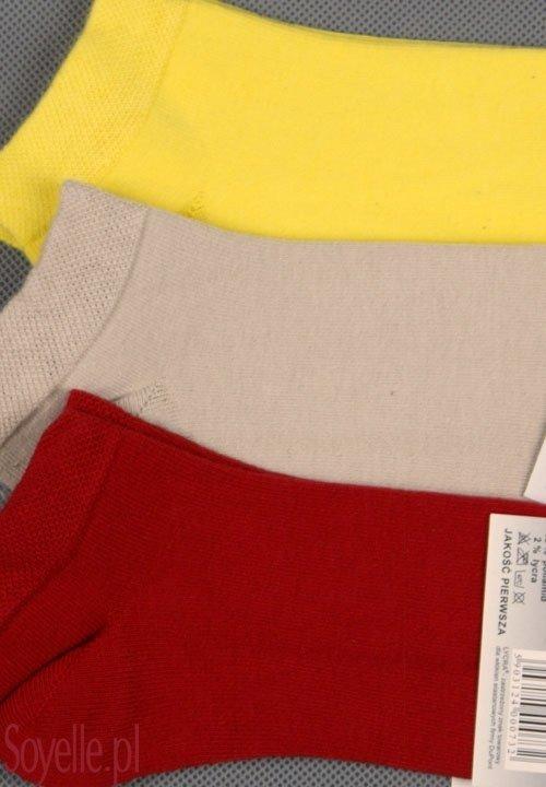 CERBER stopki klasyczne bawełna z Lycrą, czarne, białe, żółte