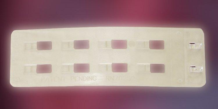 Przedłużka 2 rzędowa 3 cm silikonowa transparentna