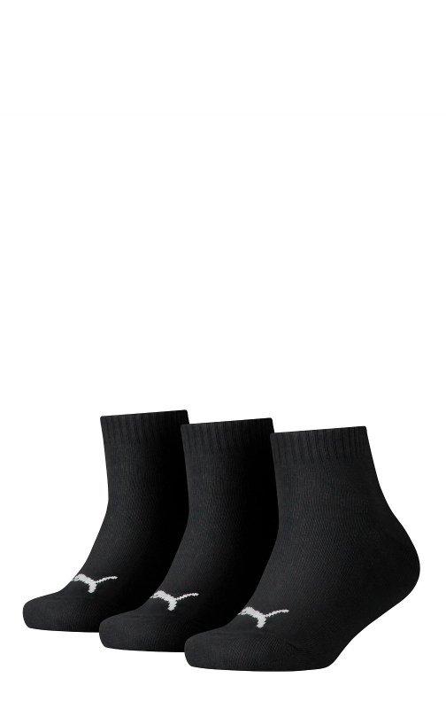 Zakostki czarne 3 pary Puma 907375 Quarter Soft